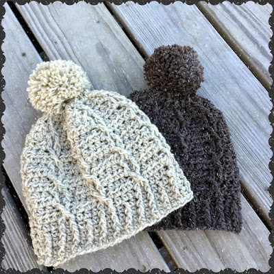 A Cabled Crochet Hat