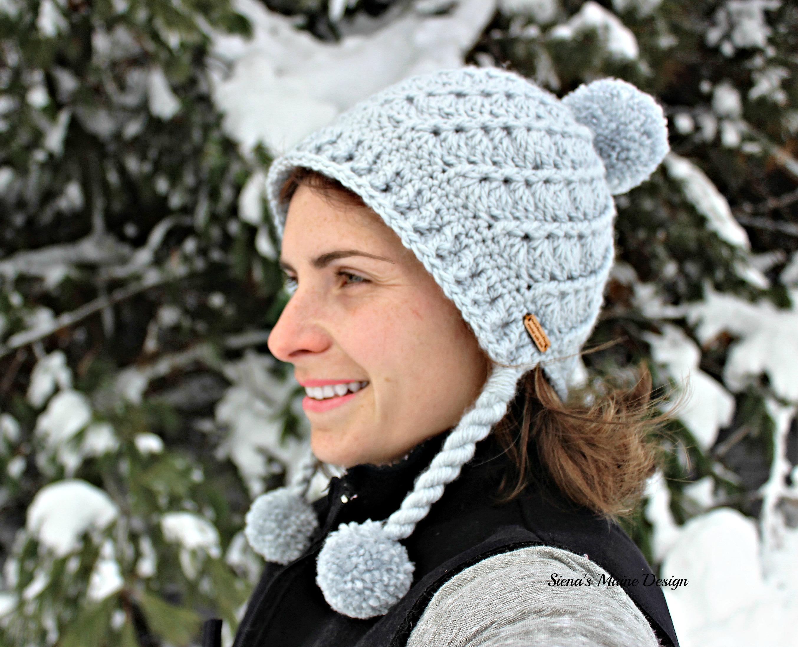 Easy Pom Pom Brim Hat