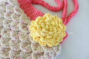 Mermaid Crochet Tote and Flower
