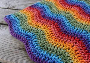 Crochet Pattern Rainbow Ripples Baby Blanket Jonna Martinez