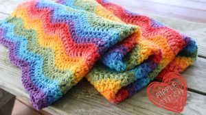 Crochet Pattern – Rainbow Ripples Baby Blanket