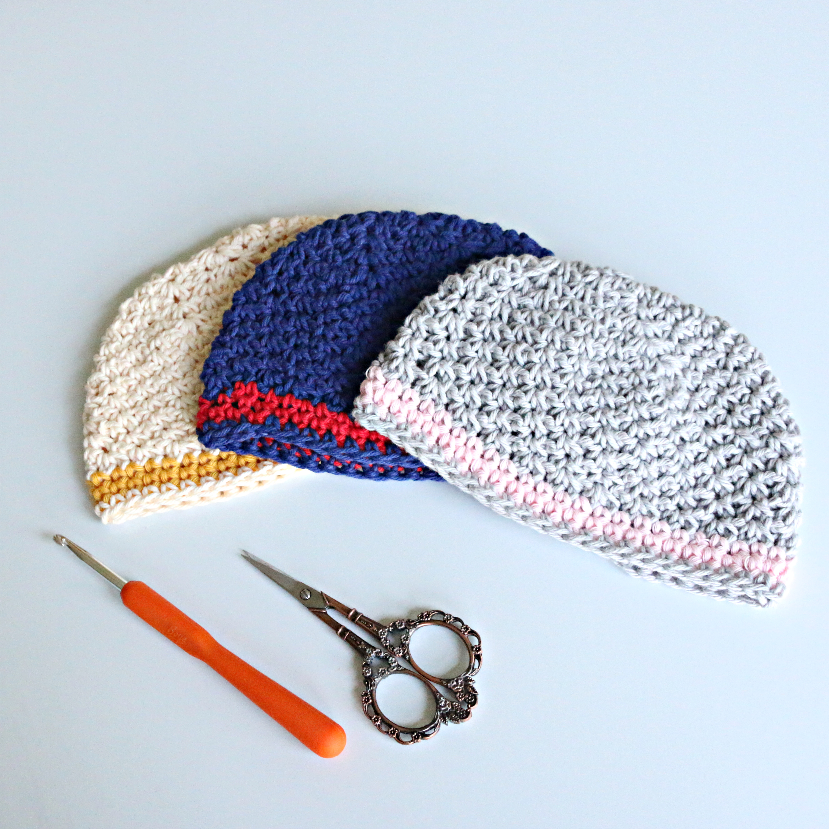Single Crochet V Stitch Baby Hat Tutorial
