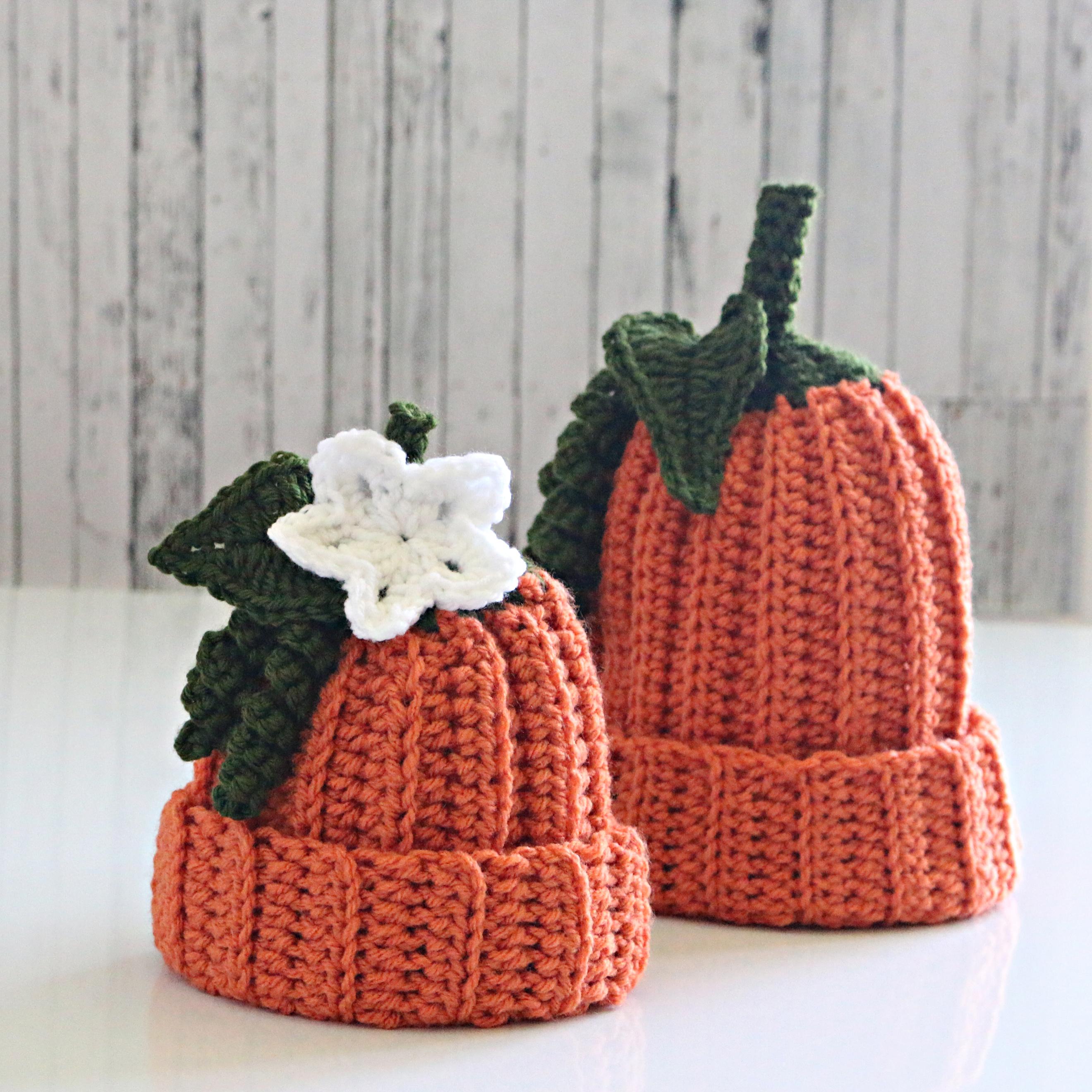 Flowered Pumpkin Hat Pattern